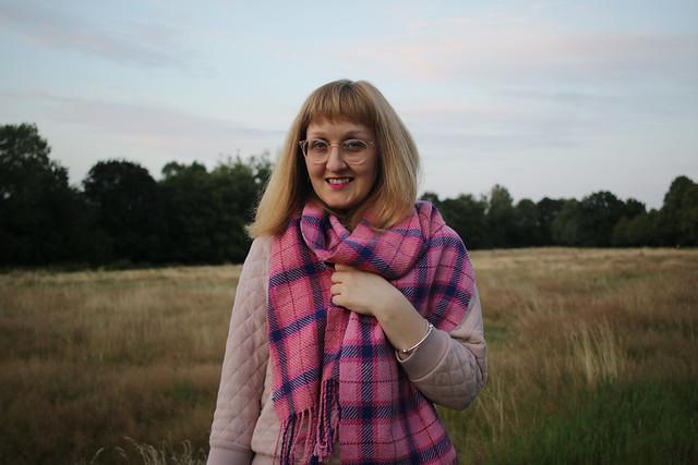 Handwoven tartan scarf