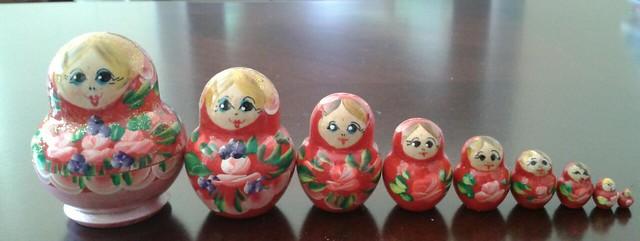 Matryoshka dolls- Nine of 'em