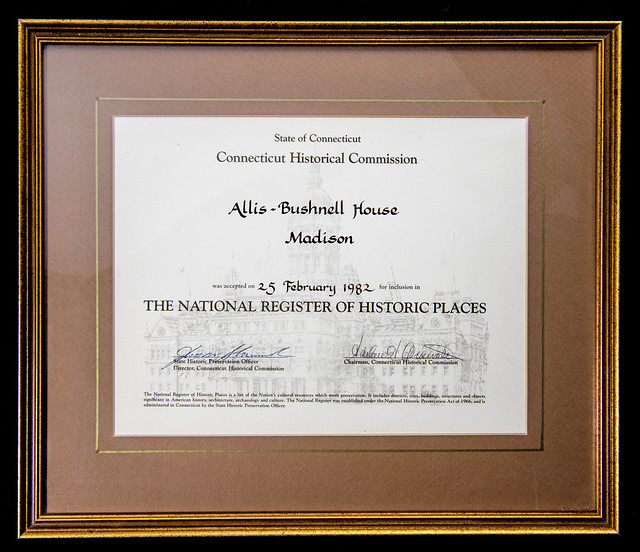 Nat'l Register of Historic Places for Allis-Bushnell House
