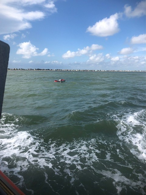 Coast Guard rescues person in the water near Crystal Beach, Texas