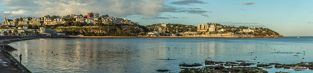 Torquay Panorama early on a summer's evening.