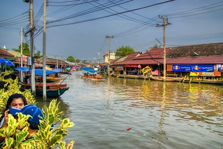Amphawa floating market in Samut Songkhram, Thailand