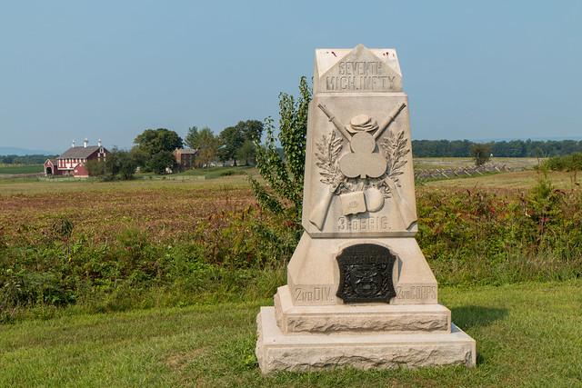 Gettysburg 7th Michigan Infantry Monument