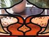"""Detail of the Art Nouveau Stained Glass Bay Window of the Dining Room of """"The Gables"""" Queen Anne Villa - Finch Street, East Malvern"""