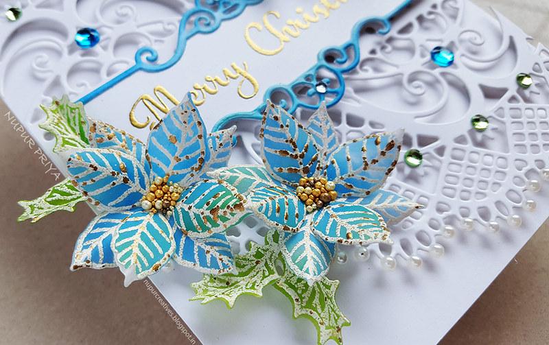 Blue Poinsettia Card_Nupur Priya_4