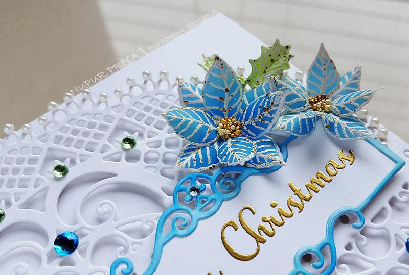 Blue Poinsettia Card_Nupur Priya_5