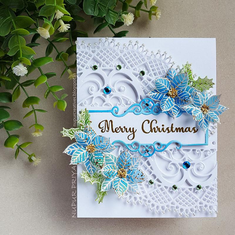 Blue Poinsettia Card_Nupur Priya_1