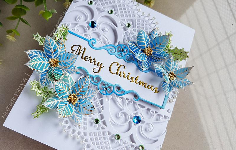 Blue Poinsettia Card_Nupur Priya_2