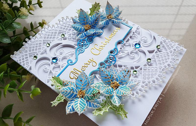Blue Poinsettia Card_Nupur Priya_3