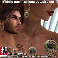 'Middle earth' unisex Jewelry set