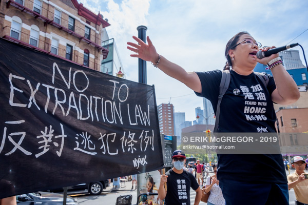 New York Stands with Hong Kong, Power to the People Rally