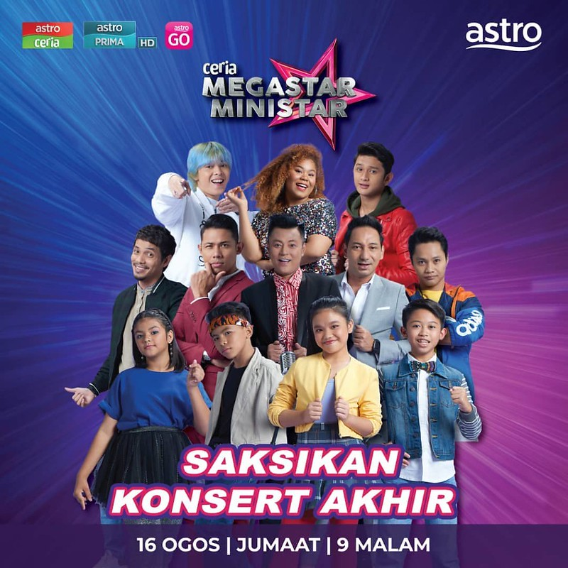 Empat Peserta Mara Ke Konsert Finale Ceria Megastar Ministar