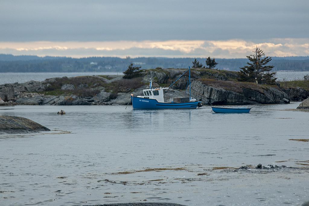 MY Defender, Blue Rocks, Nova Scotia