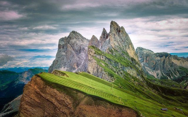 The greens of Seceda