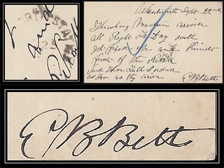 Nova Scotia / N.S. Postal History - 22 September 1888 - Wentworth (Cumberland County), N.S. via WENTWORTH STATION (Cumberland County), N.S. (split ring / broken circle cancel / postmark) to Saint John, New Brunswick (signed by a future Postmaster)