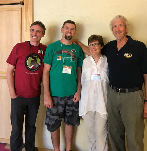 Jonathan  Lutz (Executive Director of Tucson Audubon), Luke Safford (Festival Coordinator), me, and Kevin Karlson
