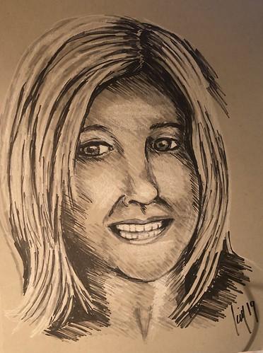 Self portrait for JKPP #portrait #portraits #selfportrait #drawing