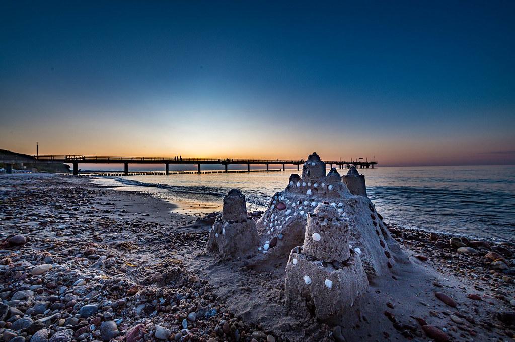 Sandcastle on the beach of Heiligendamm