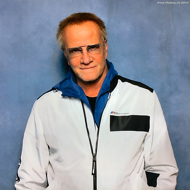 Scotland Glasgow Actor Christopher Lambert from the Highlander films a photography test pic 17 August 2019 by Anne MacKay
