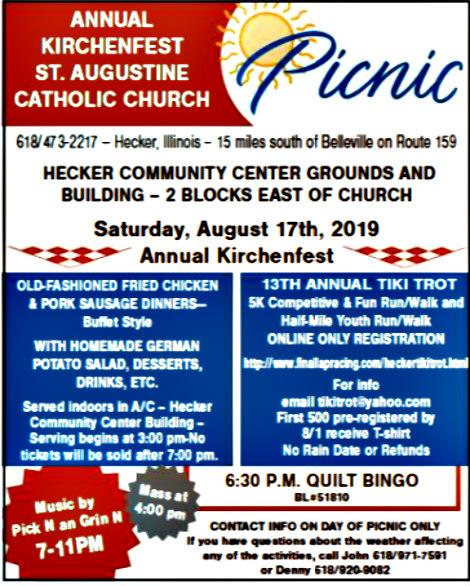 St Augustine Kirchenfest 8-17-19