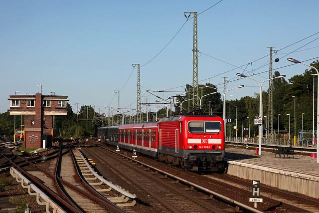 DB 143 288 + RB 28850 Berlin Ostbahnhof - Potsdam Hbf (S-Bahn Ersatzverkehr)  - Berlin Wannsee