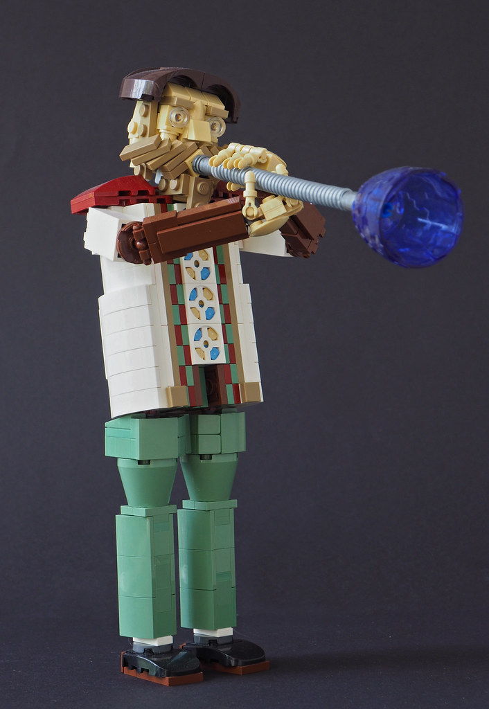 Glassblower (custom built Lego model)
