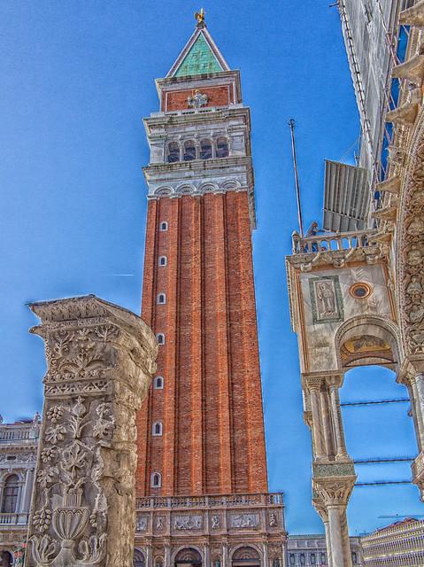 St Mark`s Campanile Venice, Italy