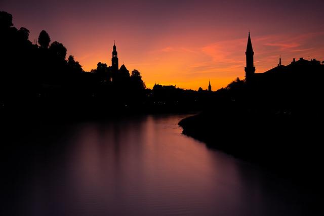 Coucher de soleil sur Salzbourg