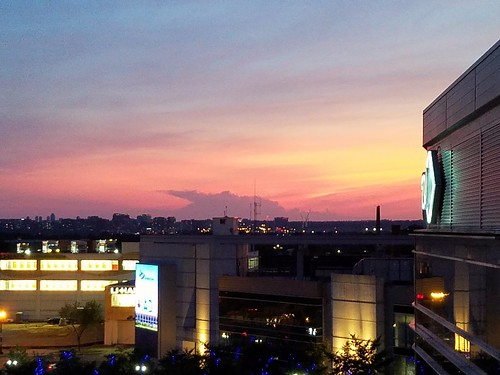 Sunset behind Nats Park