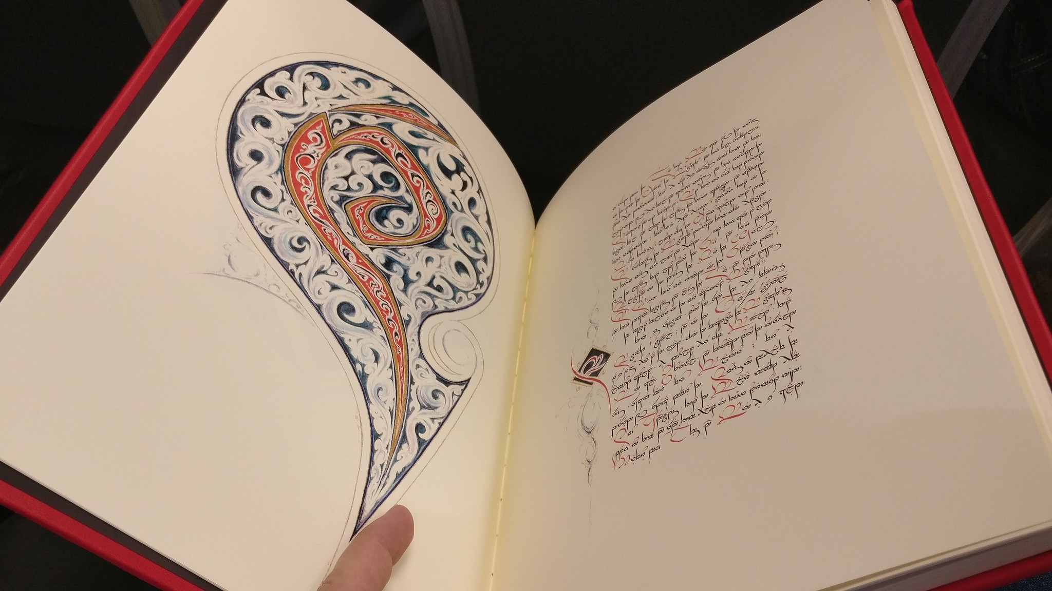 One of the books written marvelously in Tengwar by Tsvetelina Krumova