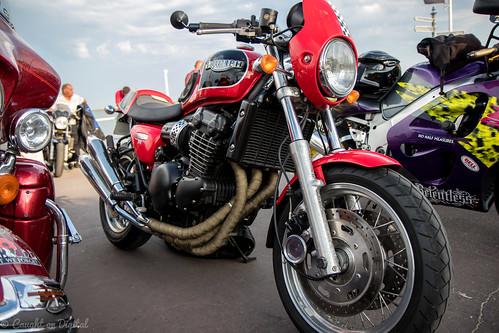 Weymouth Bike Meet-Triumph Cafe Racer