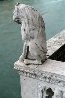 Detail of the balcony on the Grand Canal