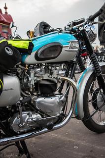 Weymouth Bike Meet-Triumph T120
