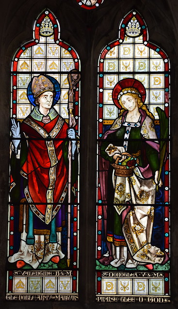 St Valentine and St Dorothy (Heaton, Butler & Bayne, 1868)