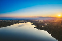 Sunset | Kalviai lake | Lithuania aerial #229/365