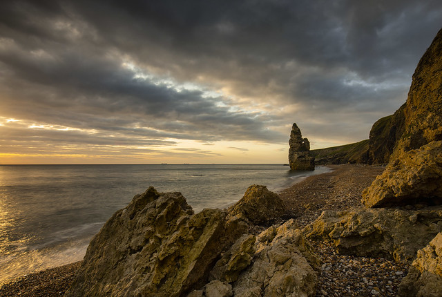 Seaham chemical beach and the Stack .