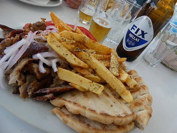 gyros on a plate