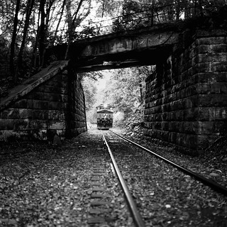 The Pennsylvania over the New York Central, Clearfield PA. Hasselblad 500c/m, Fuji Acros 100.