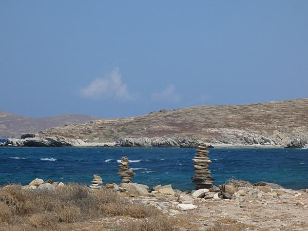 pierres plates à Délos