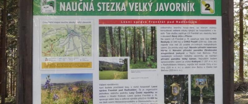 Švihák rožnovský: Naučná stezka Velký Javorník