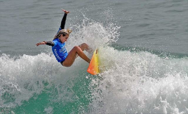 Supergirl Pro Surf Champion . Samantha from San Clemente  CA