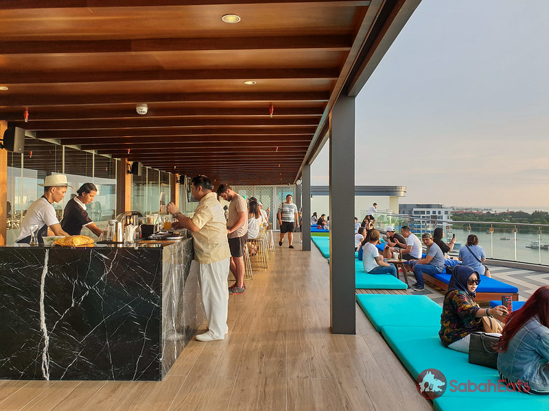 Rooftop bar at Le Meridien