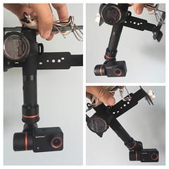 FYtech gimbal fixed on the simplex rig + GPS watch for tracking