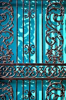 Blue Door Shadows