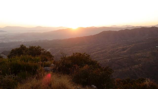 Puesta de sol desde el monte San Antón