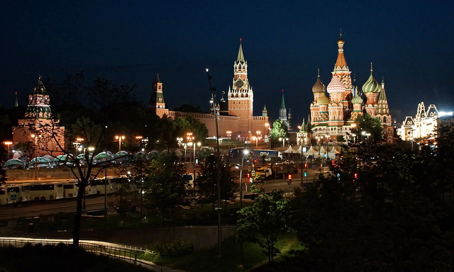 Kreml – Moskau und Basilius-Kathedrale