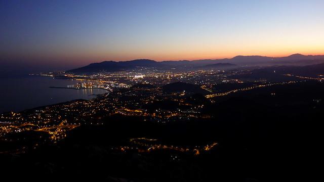 Málaga desde el monte San Antón