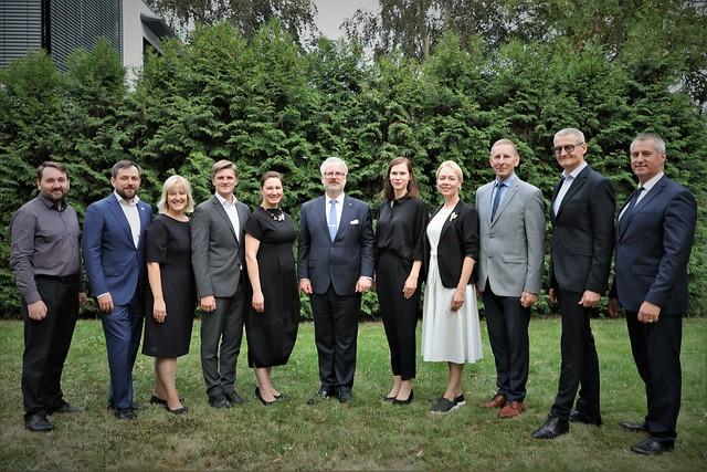 Valsts prezidents Egils Levits tiekas ar latviešu diasporu Vācijā