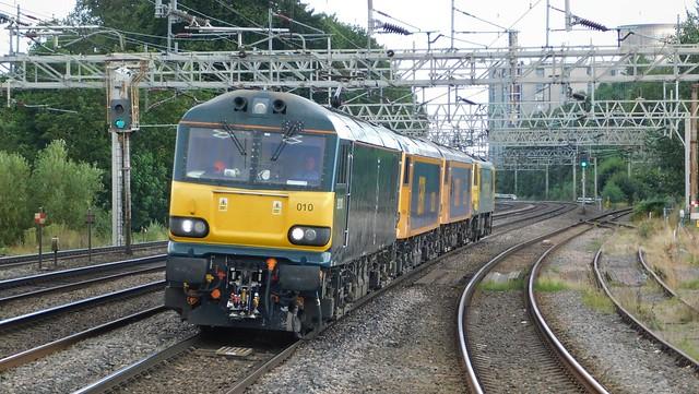 4 locos, 3 liveries - Rugeley Trent Valley, Staffordshire