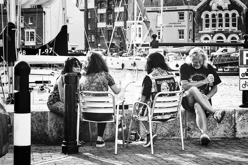 Sitting by Weymouth Harbour | by garryknight